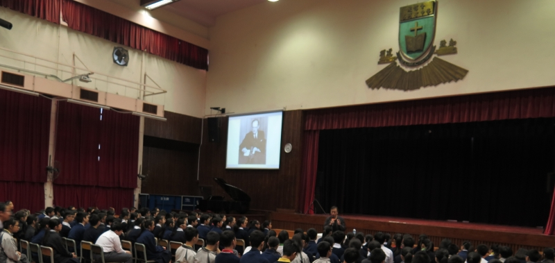 Director of Education Simon Li visited Baptist LMC Secondary School